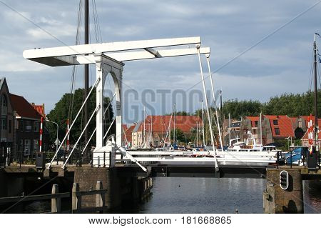 Drawbridge In The Historical Centre Of Enkhuizen,