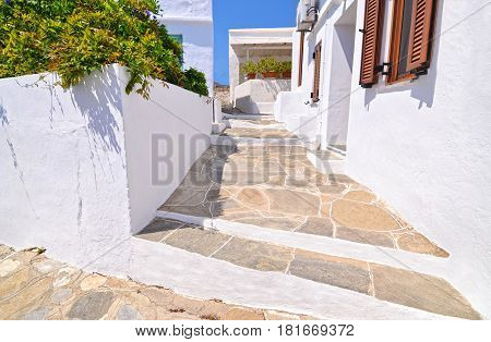 traditional exterior architecture Sifnos island Cyclades Greece