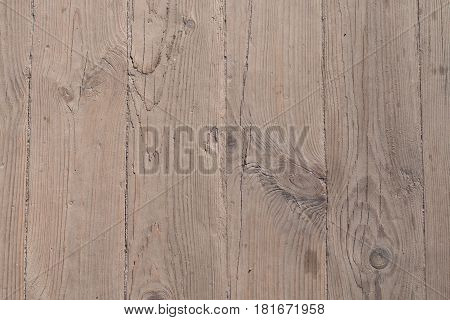 The texture of a wooden board for a background nailed down
