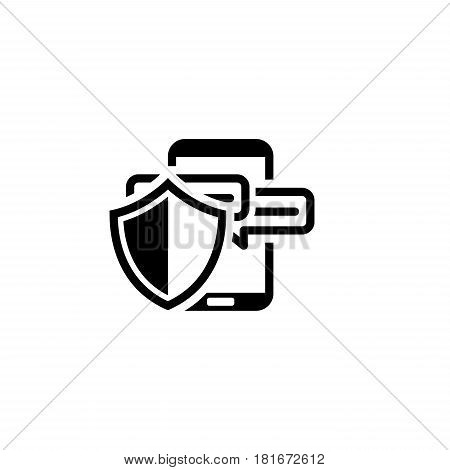 Safety Messaging Icon. Flat Design. Business Concept Isolated Illustration.
