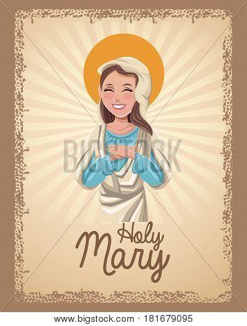 holy mary catholic saint card vctor illustration eps 10