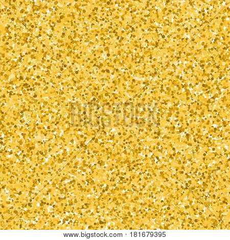 Golden background with glitter texture. Vector illustration.