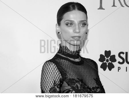 Angela Sarafyan at the Los Angeles premiere of 'The Promise' held at the TCL Chinese Theatre in Hollywood, USA on April 12, 2017.