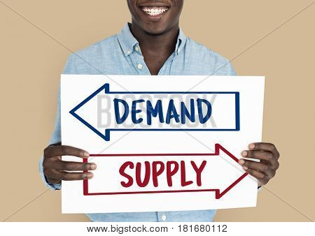 Demand Supply Decision Choice Arrow Word