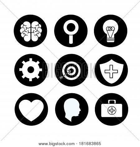 mental health symbol tips, vector illustration design