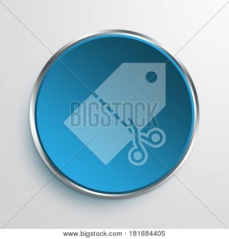 Blue Sign cut price Symbol icon Business Concept