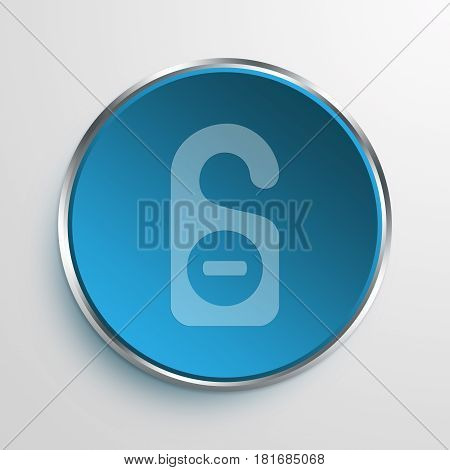 Blue Sign do not disturb Symbol icon Business Concept