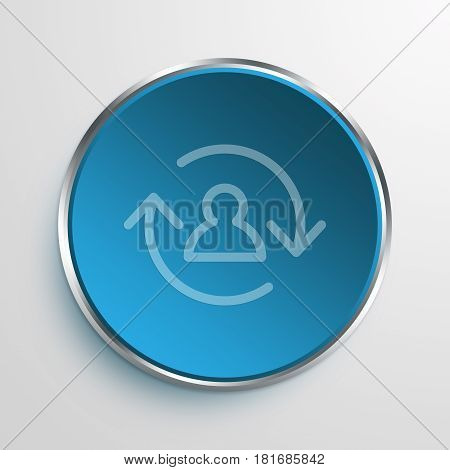 Blue Sign employee turnover Symbol icon Business Concept