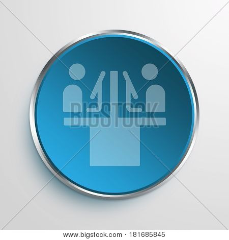 Blue Sign employees Symbol icon Business Concept