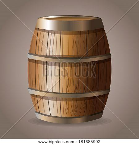 wooden barrel wine drink vector illustration eps 10