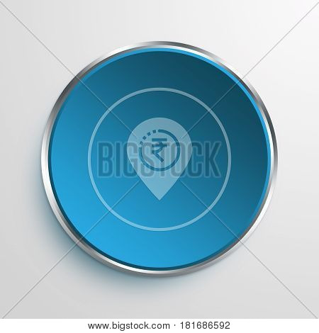 Blue Sign financial center Symbol icon Business Concept