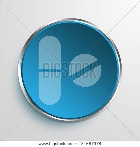 Blue Sign Health Sector Symbol icon Business Concept