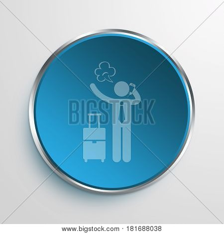 Blue Sign hectic Symbol icon Business Concept