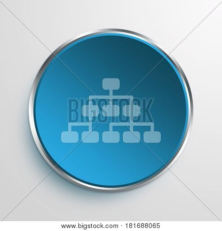 Blue Sign hierarchy Symbol icon Business Concept