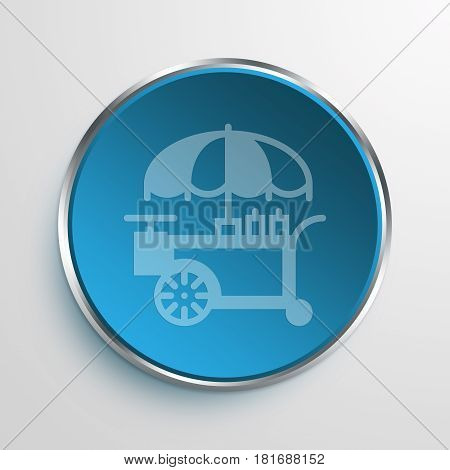 Blue Sign hot dog stand Symbol icon Business Concept