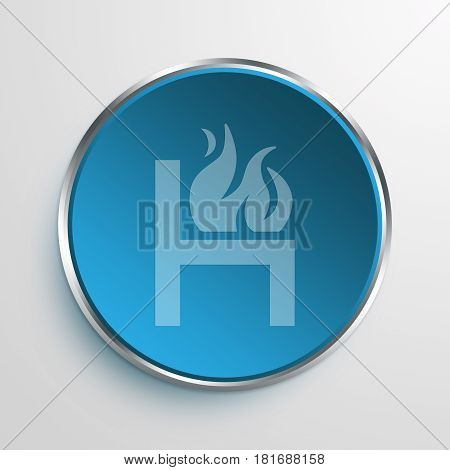 Blue Sign Hot Seat Symbol icon Business Concept