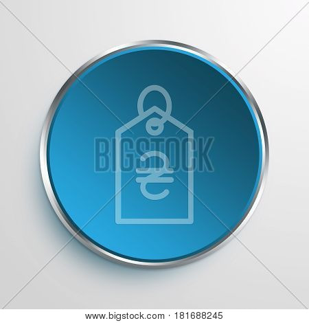 Blue Sign Hryvnia Tag Symbol icon Business Concept
