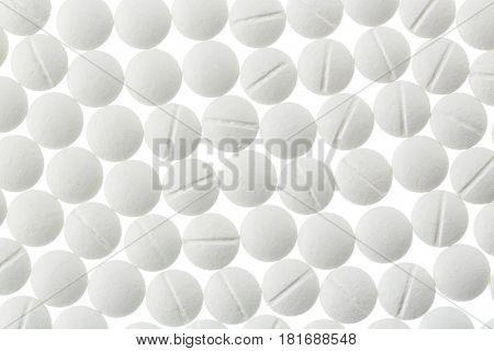 white tablets in abundance