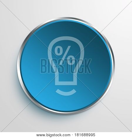 Blue Sign Light Buld Idea Symbol icon Business Concept