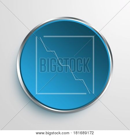 Blue Sign Loss Graph Symbol icon Business Concept