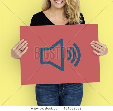 Loudspeaker Sound Loudness Graphic Symbol Icon