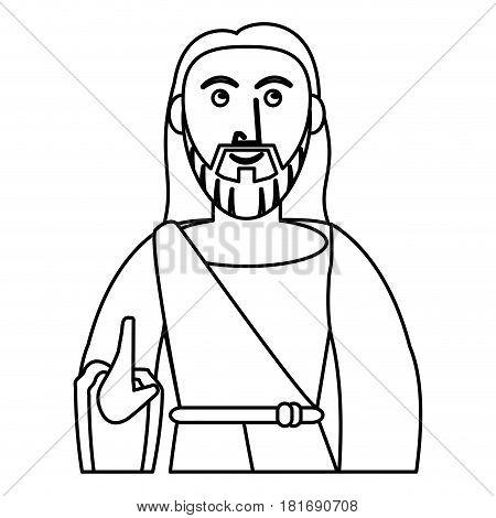 jesus christ prayer sacred outline vector illustration eps 10