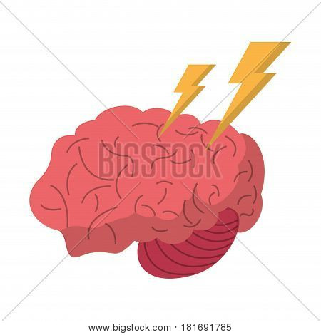brain storm thinking creativity vector illustration eps 10