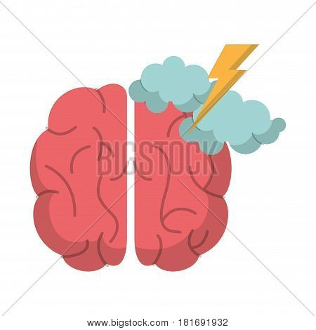 brain creativity storm ideas vector illustration eps 10