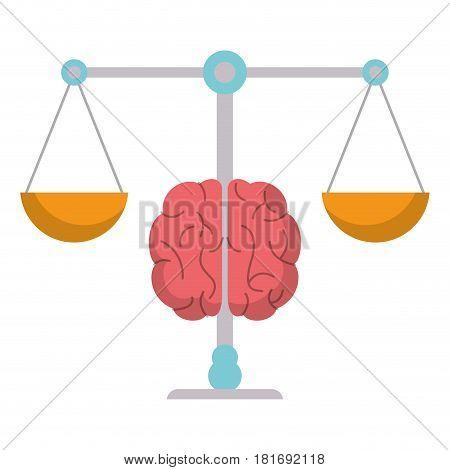 brain balance weight scale vector illustration eps 10