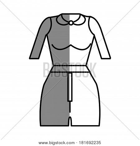 line fashion blouse and short cloth style, vector illustration