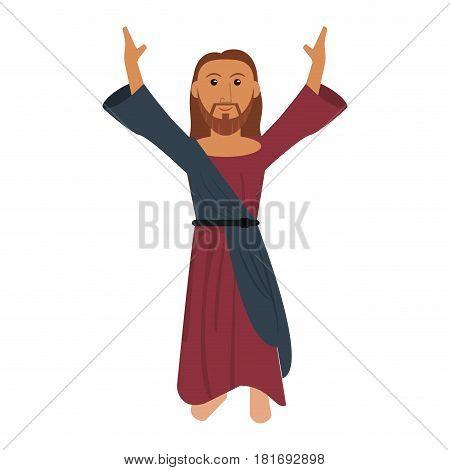 jesus christ prayer devotion image vector illustration eps 10 poster