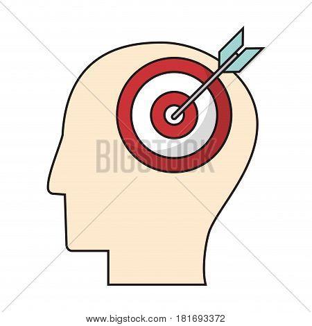 profile head target objetive vector illustration eps 10