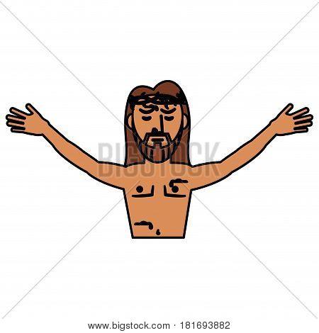 jesus christ belief catholic vector illustration eps 10