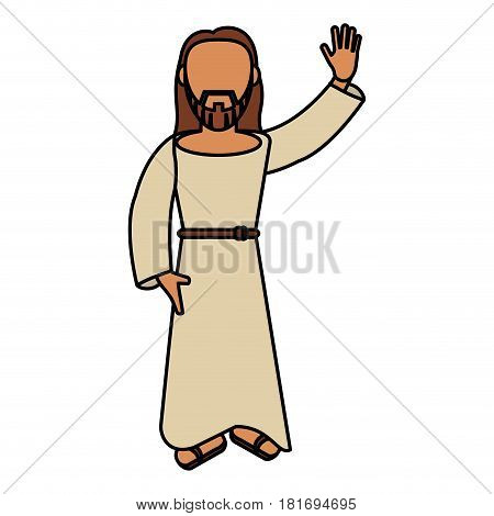jesus christ catholic blessed vector illustration eps 10