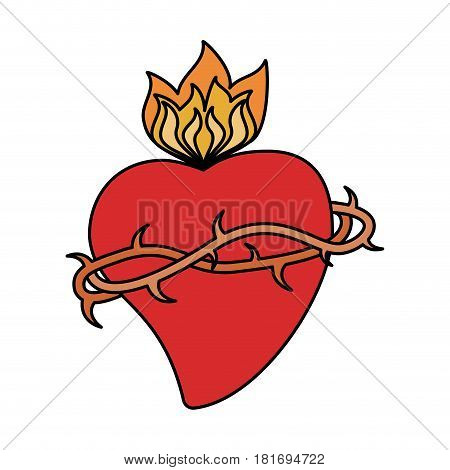sac heart blessed image vector illustration eps 10