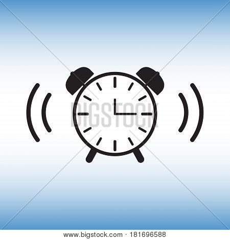 Alarm clock isolated vector sign. Alarm clock vector illustration. Wake up vector image.