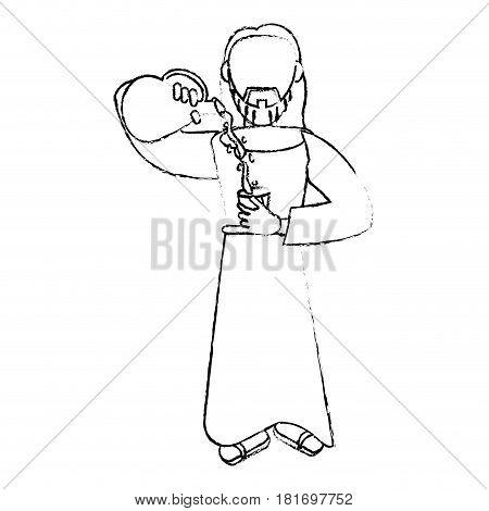 jesus christ miracle devotion sacrifice vector illustration eps 10