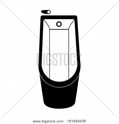 monochrome silhouette of bathtub in top view vector illustration