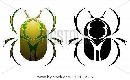 Scarab tattoo design