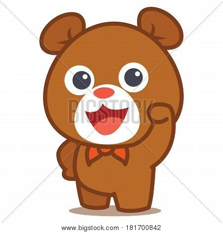Illustration of cute Bear collection stock vector