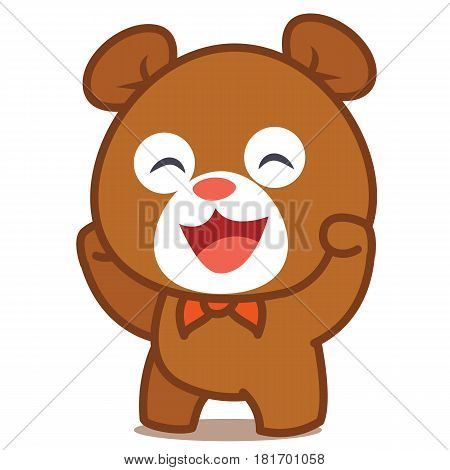 Happy bear character vector art collection stock