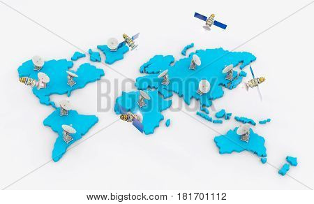 Satellite Dishes For Global Communication
