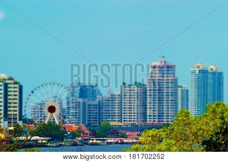 blurred photo Blurry image high-rise buildings background