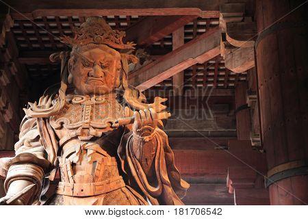 Buddha Image In Todai Ji, Nara, Japan
