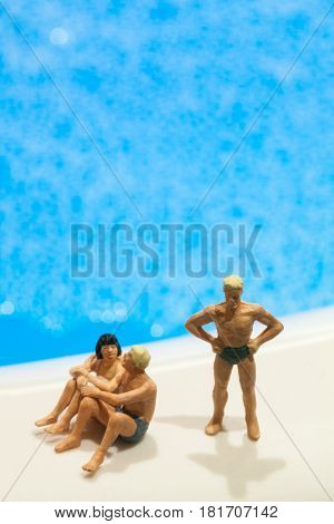 Miniature people: Vacationers are enjoying the beach