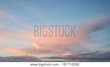 Beautiful Vibrant Colorful Spring Sunset Sky For Use As Background