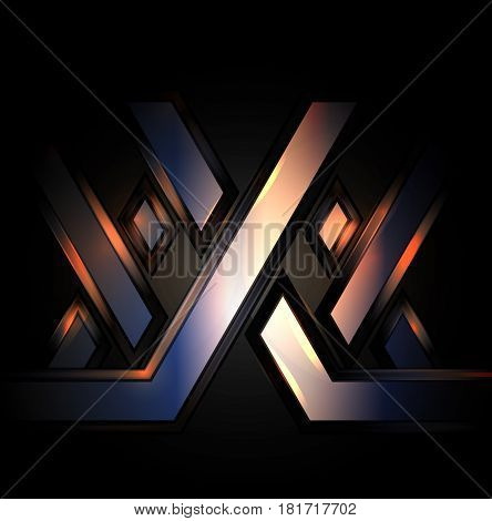 XXX abstract background on a black background