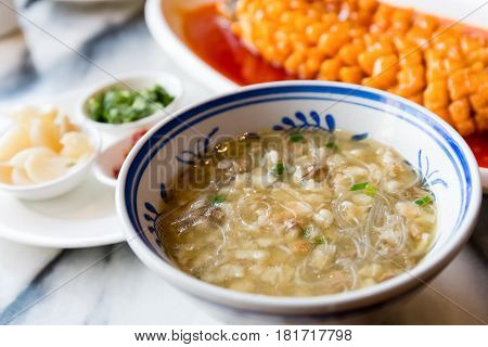 mutton bread in the soup a traditional xian delicaciesshaanxi province China
