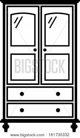Girl armoire, a piece of furniture on white background