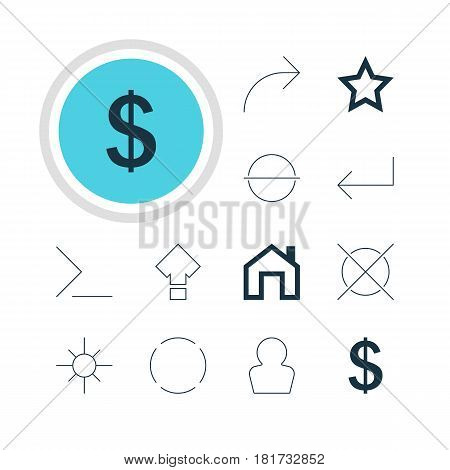 Vector Illustration Of 12 Interface Icons. Editable Pack Of Asterisk, Repeat, Accsess And Other Elements.